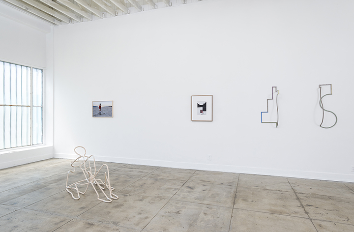 Installation image of Occupy Space Differently at Ochi Projects, Los Angeles, 2016