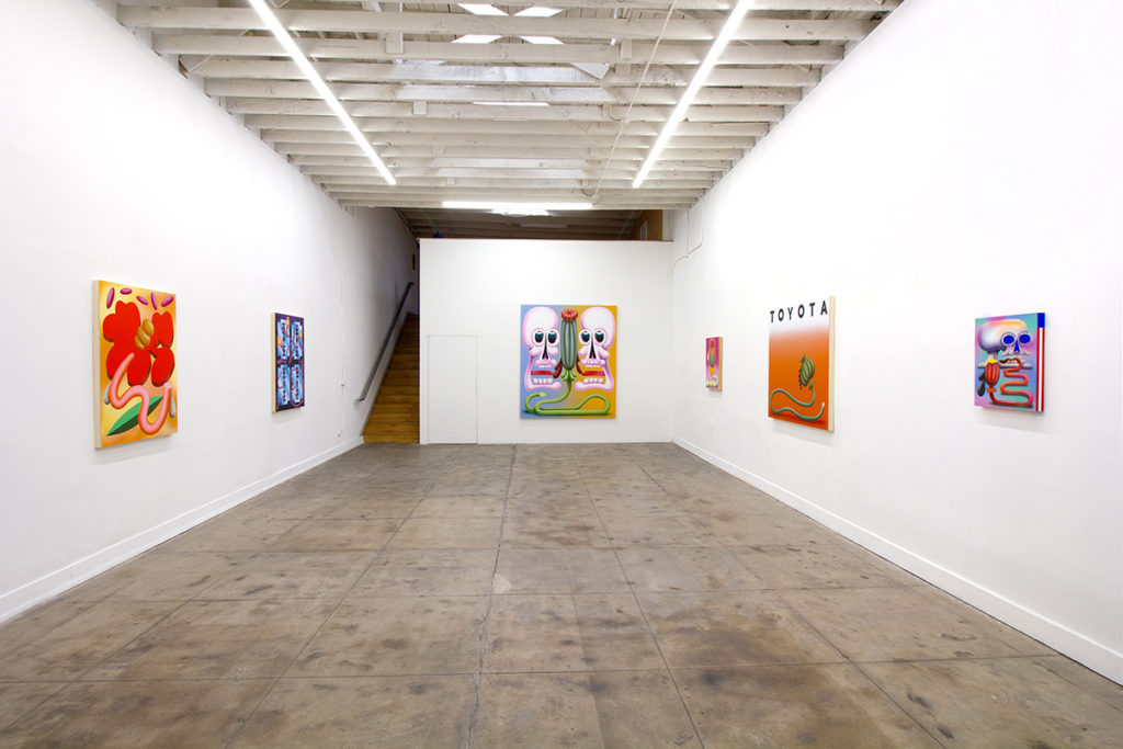 Installation image of Ben Sanders Poppies at Ochi Projects, Los Angeles, CA