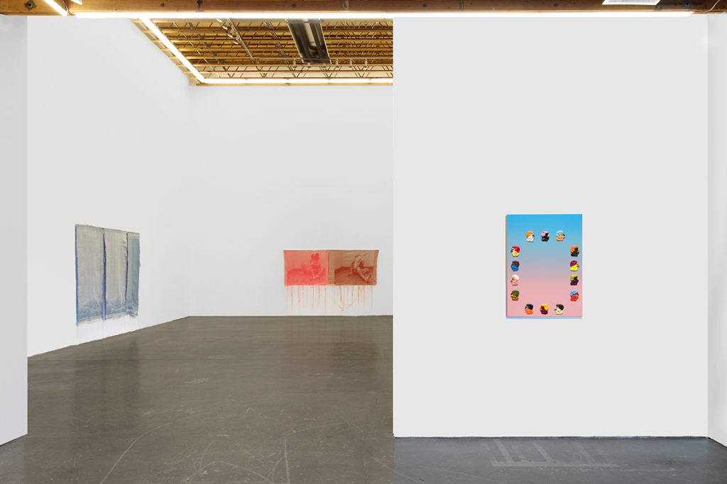 Installation image of Head(less) Adam Beris and Mia Weiner at Ochi Gallery in Ketchum, Idaho
